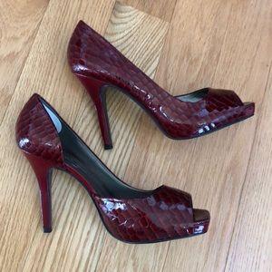 Jessica Simpson burgundy heels
